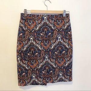 Gorgeous J Crew Paisley Skirt